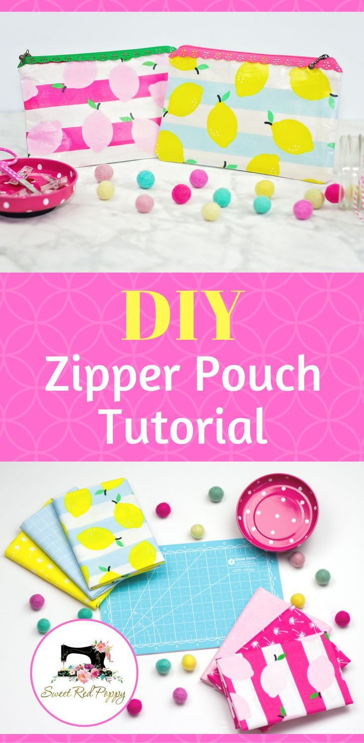 Easy Laminated Fabric Zipper Pouch Tutorial - Sweet Red Poppy