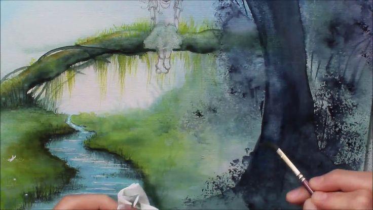 Ganz Einfach Aquarellmalen Lernen 8 Mystischer Urwald Mit Eule
