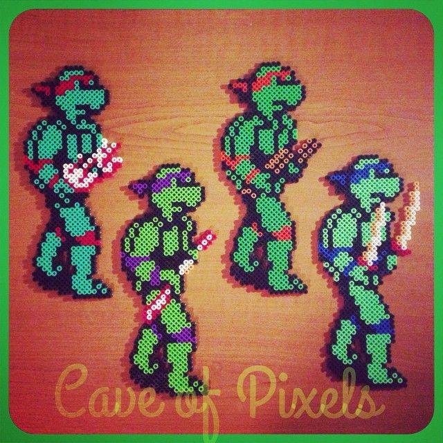 18 Besten Ninja Turtles Bilder Auf Pinterest: 17 Bästa Bilder Om Pärlplattor Mönster På Pinterest