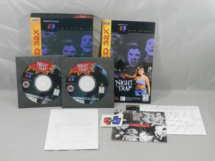 Night Trap Sega CD 32x, 1994 Complete In Box with Temporary Tattoo and Original Receipt CIB   RARE by CaymanHillDesigns on Etsy