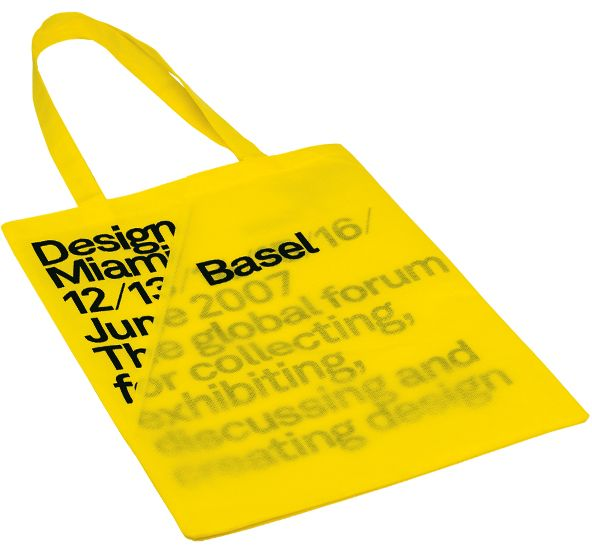 Title:      Custom coloured promotional carrier bag  Client:      MadeThought  Materials:      PMS match non-woven polyprop  Processes:      Screen print, machine stitch