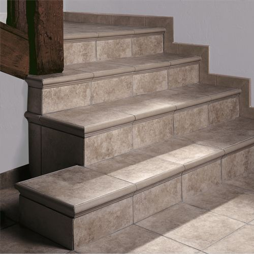 17 mejores im genes sobre stair tile trim pieces - Gres extrusionado natural ...