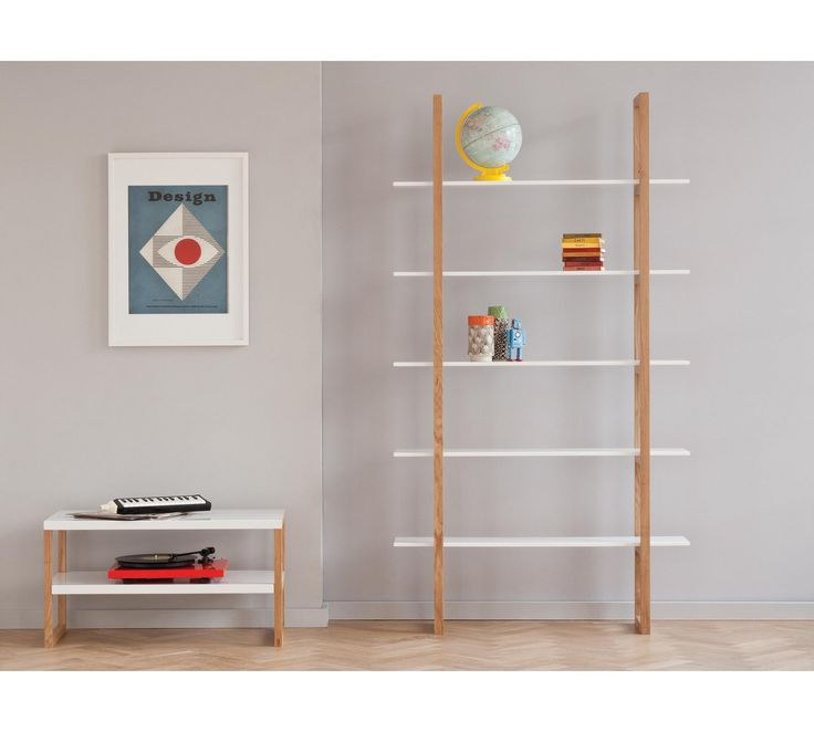 Buy Habitat Loki 5 Shelf Solid Oak Shelving Unit - White at Argos.co.uk, visit Argos.co.uk to shop online for Bookcases and shelving units, Living room furniture, Home and garden