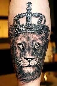#lion# #tattoo# #king# #crown#