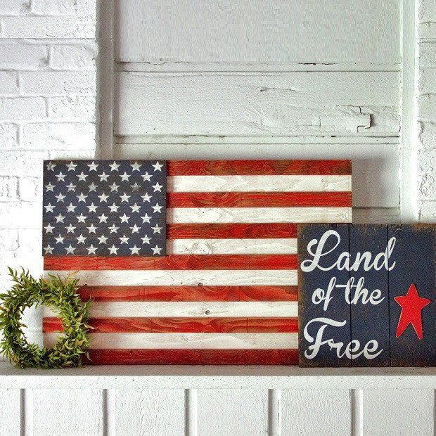25 best ideas about american flag wall art on pinterest for Painted american flag wall art