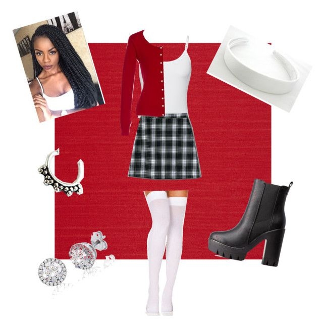 """Dionne clueless Halloween costume ❤️"" by dunbarstilinski143 on Polyvore featuring Casadeco, Splendid, Lands' End, Charlotte Russe and Zoya"