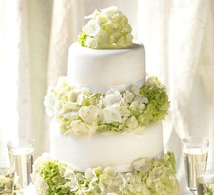 Simple elegance wedding cake. A three-tier wedding cake that's simpler than you think.