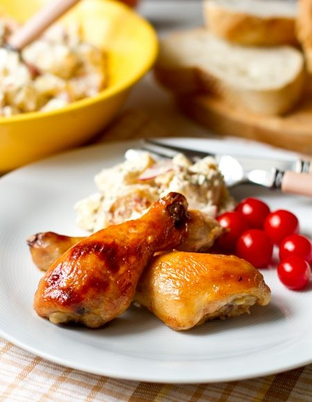 Куриные ножки в медово-горчичном маринаде