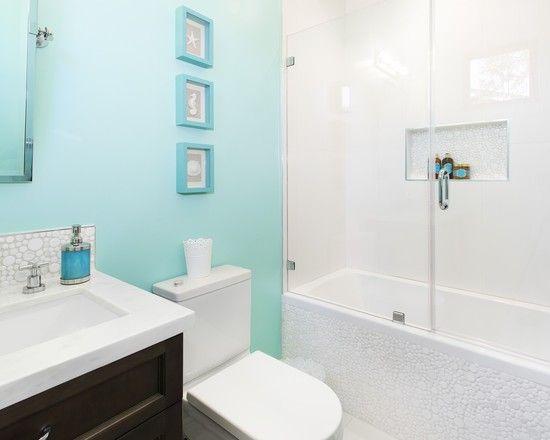... Inspiring Blue and White Bathroom Accessories : Contemporary Bathroom Inine…