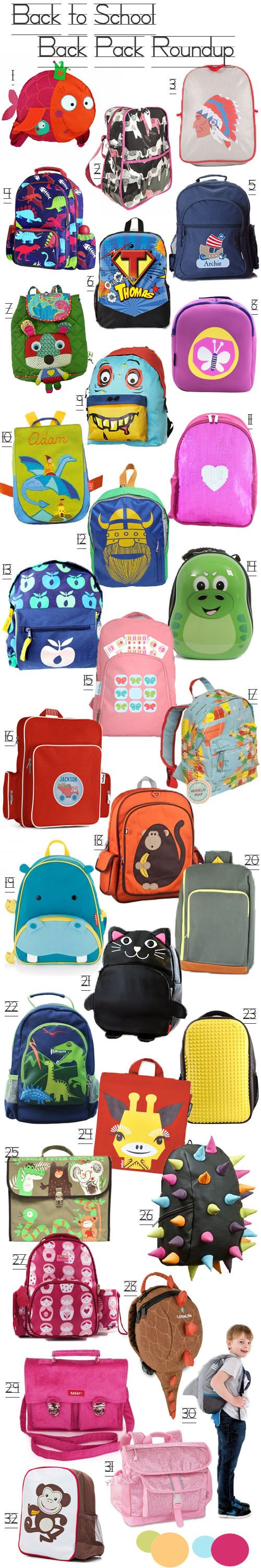 KidStyleFile Roundup: Top 32 Best Kids Backpacks 2014