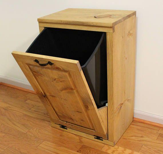 Tilt Out Trash Can Wooden Trash Bin Wood Trash Box