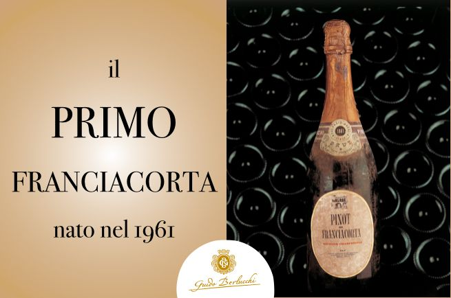 The first ever Franciacorta wine: Berlucchi historical 1961 bottle. #BerlucchiMood
