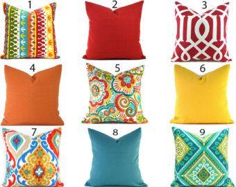 interior exterior almohada cubre cualquier tamao usted elige cojines decorativos cojines al aire libre interior rojo