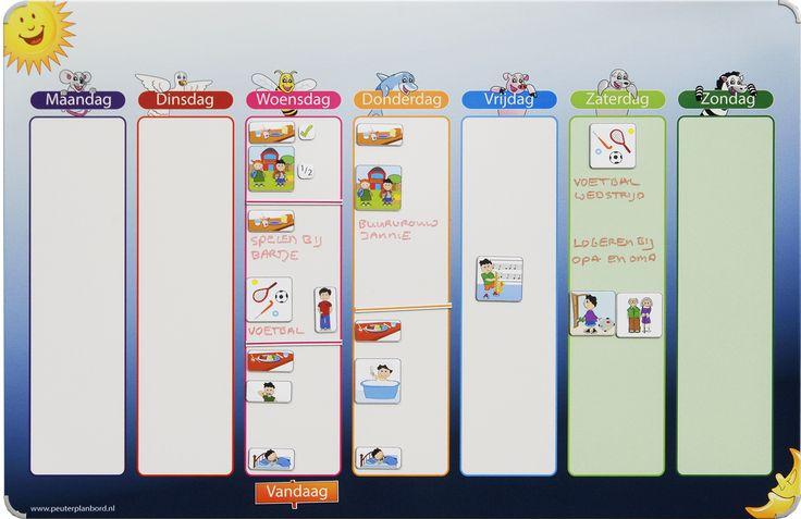 weekplanner planbord kind schrijven