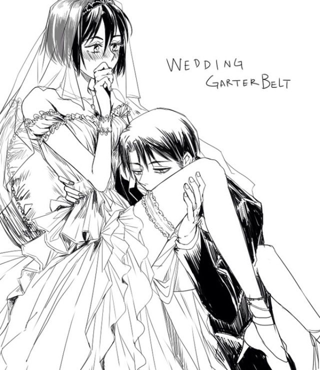 Just like that. (Attack on titan - Levi x Mikasa ... |Attack On Titan Levi And Mikasa