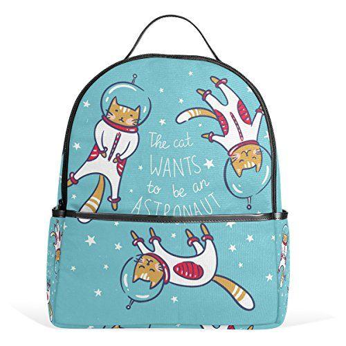 My Daily die Katze will werden ein Astronaut Casual Backpack Cartoon Rucksack für Schule Reise Outdoor Daypack mit Doppelreißverschluss #Daily #Katze #will #werden #Astronaut #Casual #Backpack #Cartoon #Rucksack #für #Schule #Reise #Outdoor #Daypack #Doppelreißverschluss