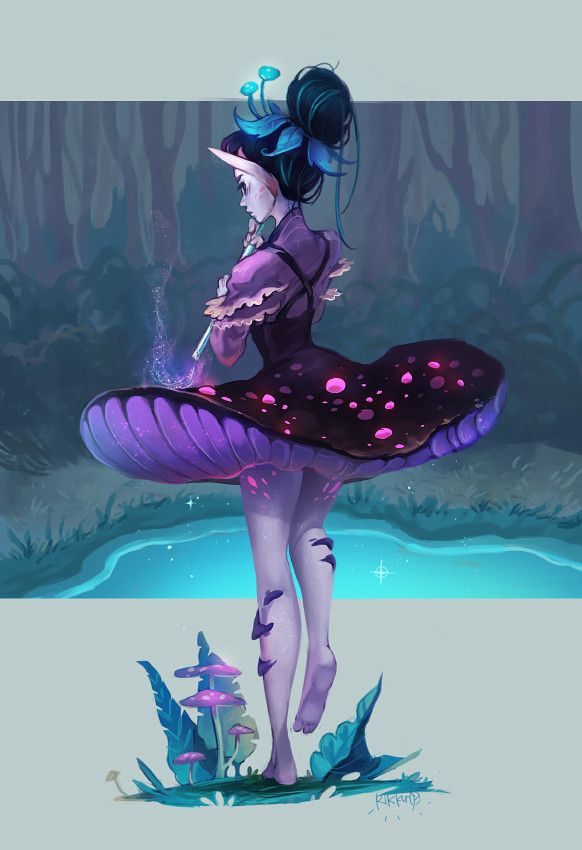 Mushroom Girl by Rikku the Leaf (cdnb.artstation.com) submitted by Lol33ta to /r… – Nathan Warren