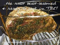 Oil-less Fryer and Shares The Big Easy Standing Rib Roast Method