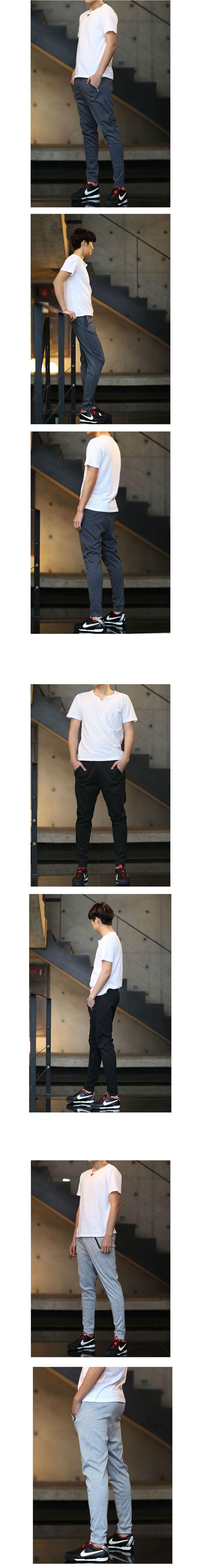 배기핏 지퍼 팬츠/ 패션갑/ 16,400원  남자 트레이닝 패션, 남자 트레이닝 팬츠, 남자 운동복, 휘트니스, 운동복, 데일리룩