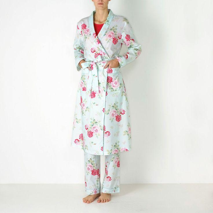 Nightwear & Slippers   Antique Rose Dressing Gown   CathKidston