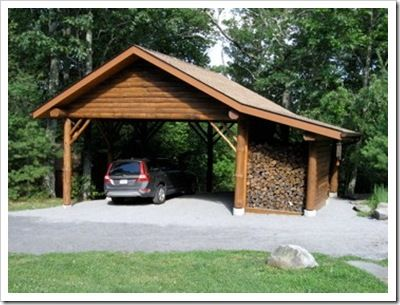 1000 images about firewood storage on pinterest land 39 s for Carport construction costs