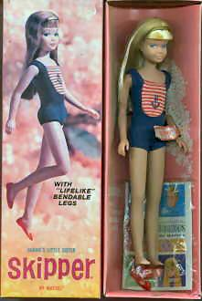 Vintage Bendable Leg Skipper Doll ... I still have this doll with this swim suit!!!  OMG...Where did the time go!!!