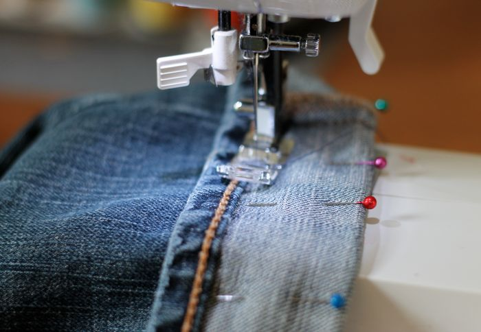 alter your jeans while keeping the original hem