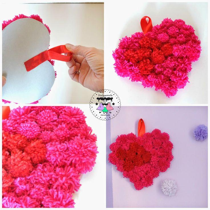Un cuore morbido di Pom Pom http://www.stellegemelle.com/2015/02/cuore-morbido-di-pom-pom-per-san.html