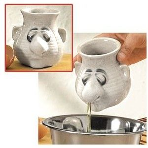 :) #SmileGifts The Peter Petrie Egg Separator is the most unappetizing kitchen tool ever. And sadly, the stupid thing works. Just crack an egg into the hand-crafted ceramic head and tilt it forward. $13.95 #easter_gifts_ideas http://www.buy-gifts.us/2012/02/peter-petrie-egg-separator/