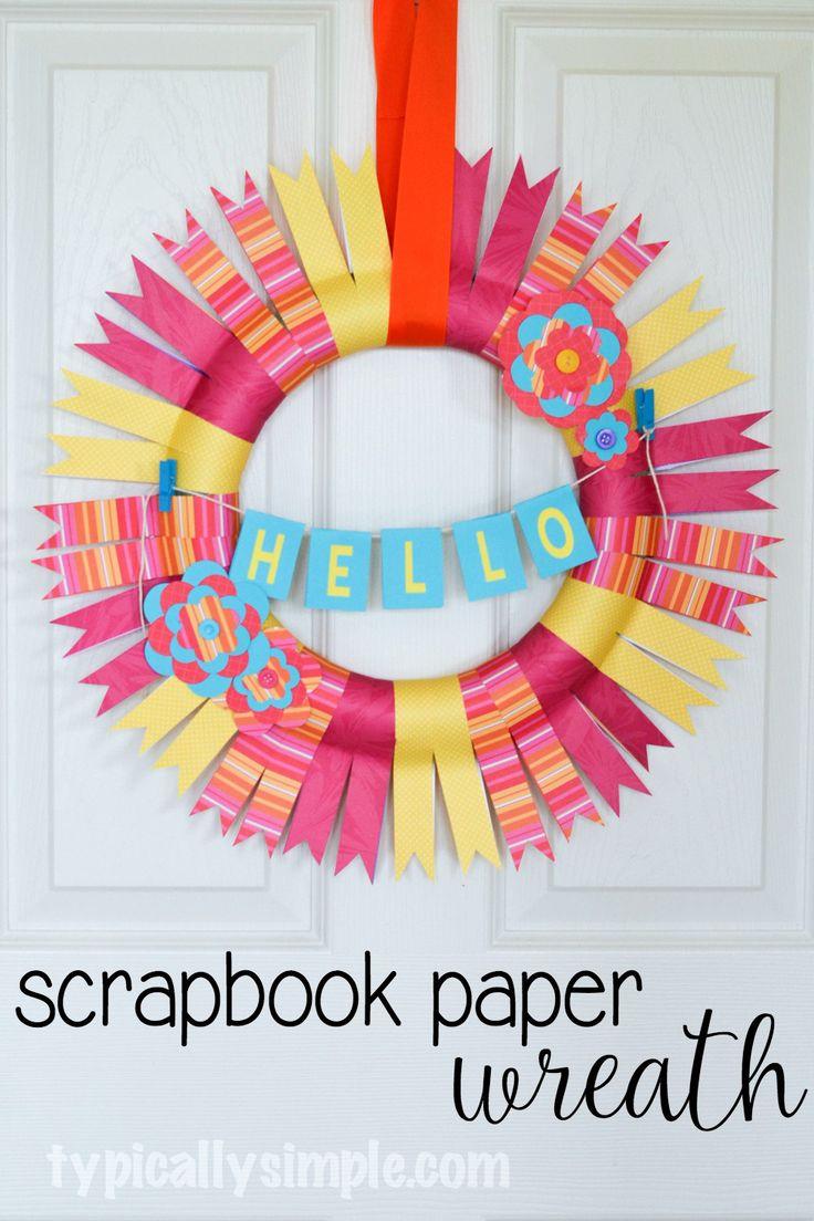 Scrapbook ideas tutorial - Scrapbook Paper Wreath