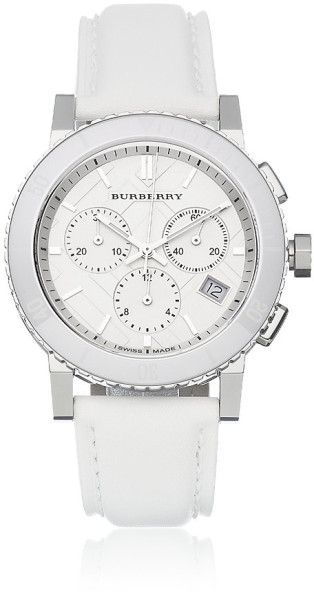 Burberry White The City Chronograph Watch