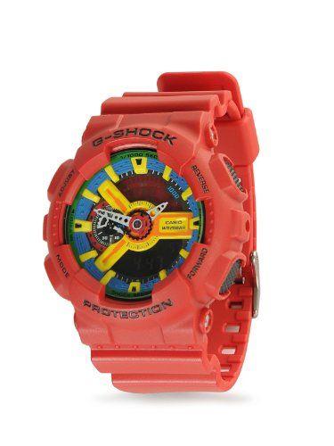 Casio G-Shock Men's Red Analog Digital Watch Ga-110Fc-1A, 2015 Amazon Top Rated Electronics & Gadgets #Watch