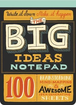 I love this oversized notebook for mind-mapping nad list-making!!