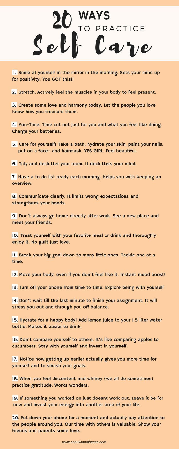 Tips to encourage a positive mindset and for self care, too! (You can't pour from an empty vessel)