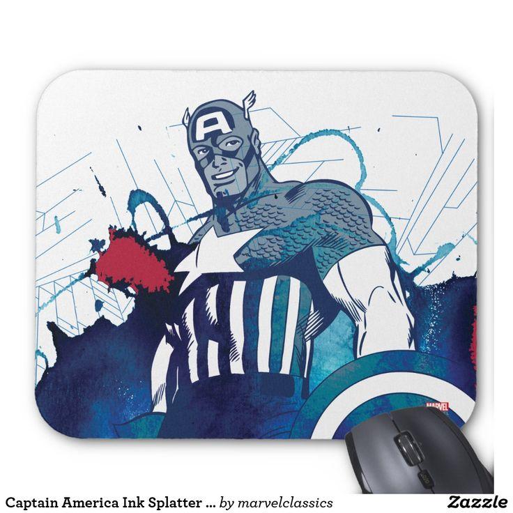 Captain America Ink Splatter Graphic