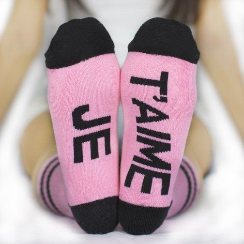 JE T'AIME Arthur George socks by Robert Kardashian