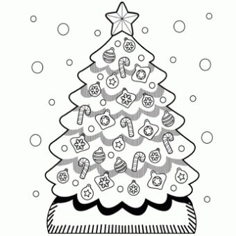 christmas tree coloring page free christmas recipes coloring pages for kids santa letters - Fun Printable Coloring Pages