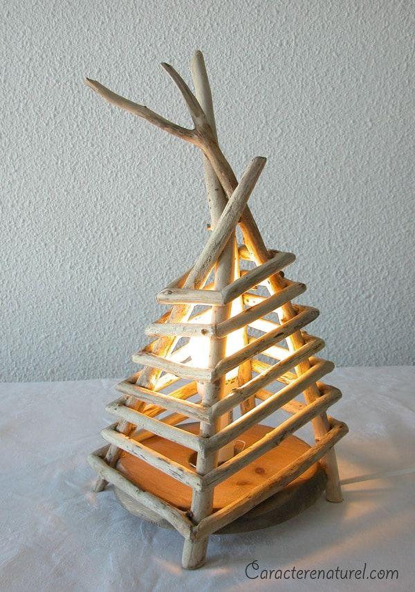 Handmade Driftwood Bedside Lamp Desk Lamps