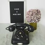 Vintage bakelieten telefoon