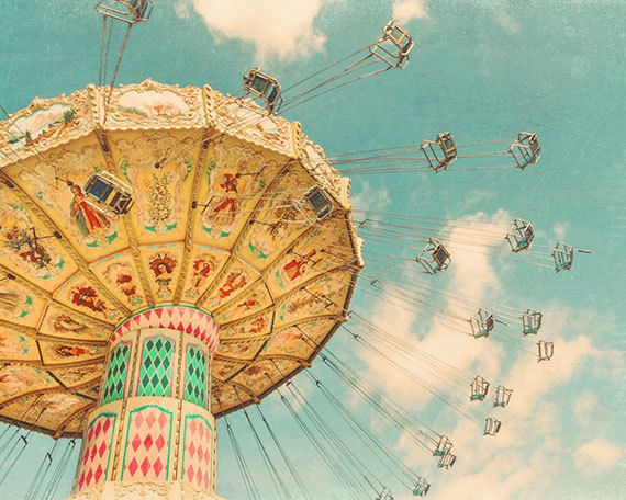 Grand sticker, photographie de carnaval, Glee, tirage de photographie d'Art, fun, lunatique, turquoise bleu et jaune, décor de mur de pépinière, « Glee »