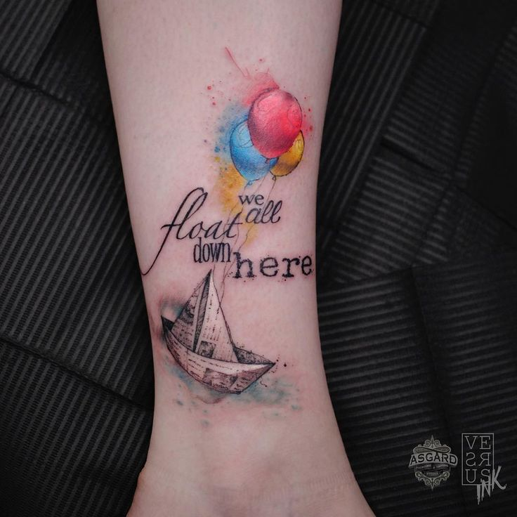 @versusink INSTAGRAM We all float down here. Tag a Stephen King fan, they will understand! Done at @asgardsouthampton