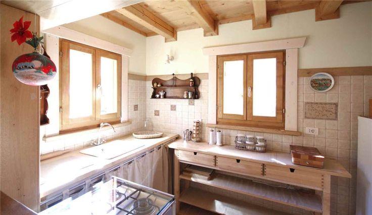 Essere in Montagna  Chalet in legno particolare della cucina