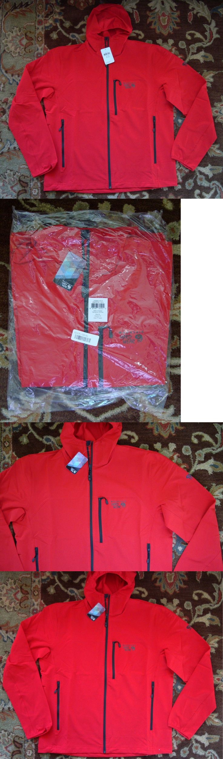 Coats and Jackets 26346: New Mountain Hardwear Mens Zone 5 Soft Shell Lightweight Jacket Xl Red $100 -> BUY IT NOW ONLY: $51.95 on eBay!