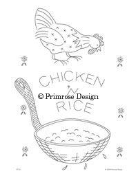 Primrose Design | Vintage | Embroidery Pattern | Kitchen Towels