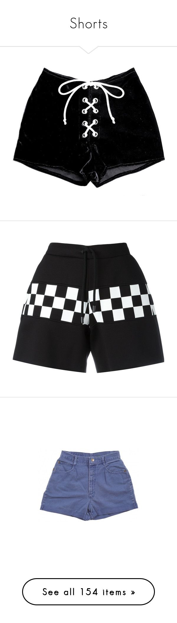 """""""Shorts"""" by xovml ❤ liked on Polyvore featuring shorts, bottoms, black, velvet, stretch shorts, laced shorts, eyelet shorts, stretchy shorts, velvet shorts and drawstring shorts"""