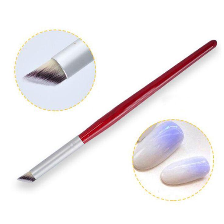 1 Stück Nail art Gradienten Schwindlig Farbstoff Pinsel Holzgriff Acryl Nagelbürste DIY Nagelkunstwerkzeuge