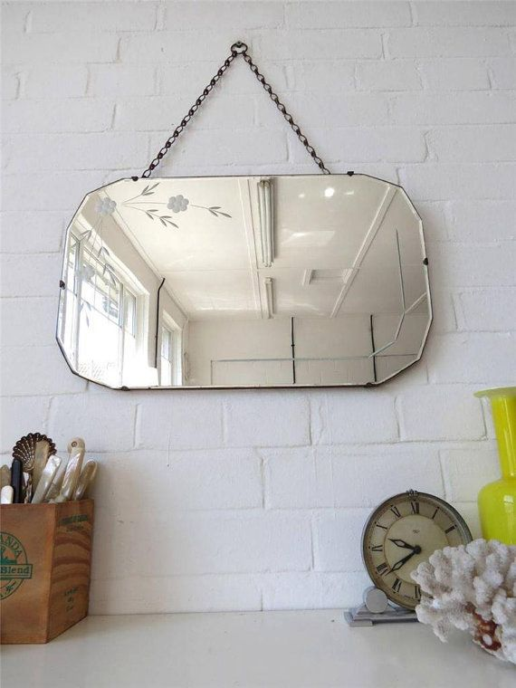 Vintage Art Deco Bevelled Edge Wall Mirror With By Uulipolli