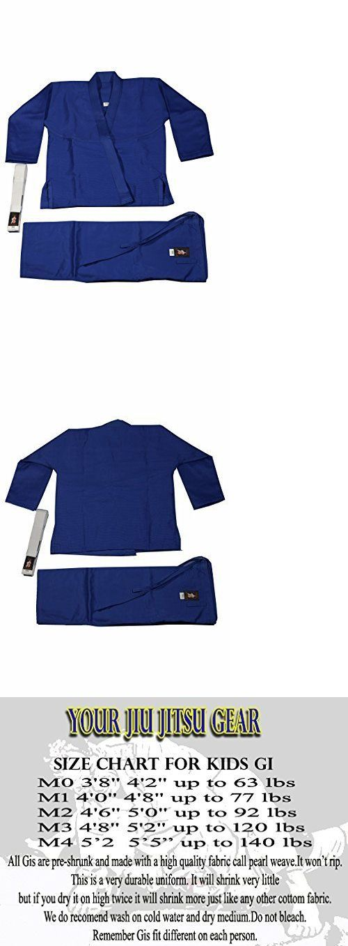 Jackets 179771: Your Jiu Jitsu Gear Brazilian Jiu Jitsu Kids Uniform Blue M0 With Bjj White Belt -> BUY IT NOW ONLY: $73.15 on eBay!