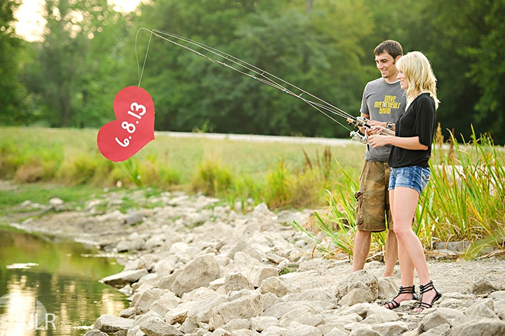 Fishing Engagement Picture Idea. Or a save the date.
