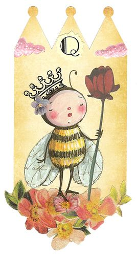Q is for Queen Bee by Sweet Pea illustrations, via Flickr